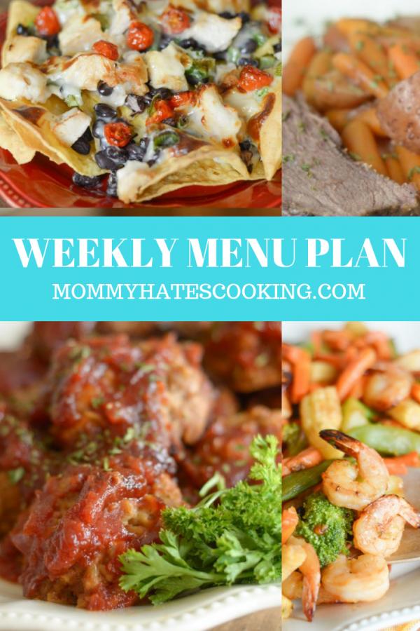 Weekly Menu Plan - Week of September 16th