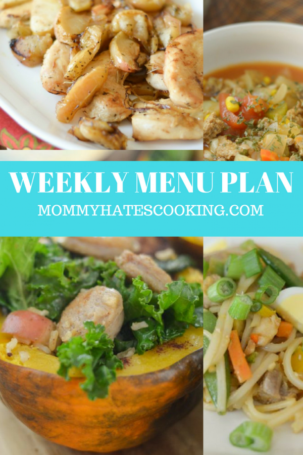 WEEKLY MENU PLAN WITH MOMMY HATES COOKING