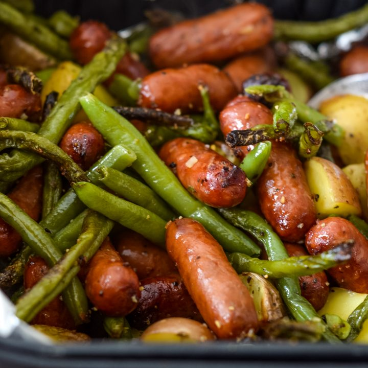 Air Fryer Sausage, Beans, & Potato Hash