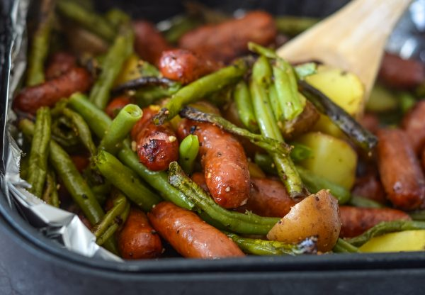 Air Fryer Sausage, Beans, & Potato Hash