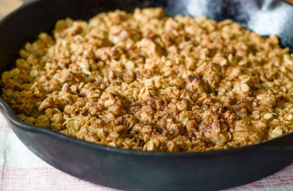 Gluten Free Baked Pumpkin Crisp