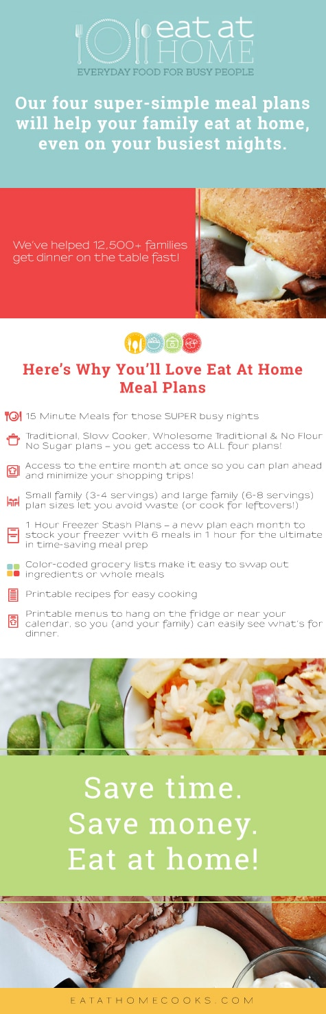 Eat at Home Meal Plans - Save 30%!