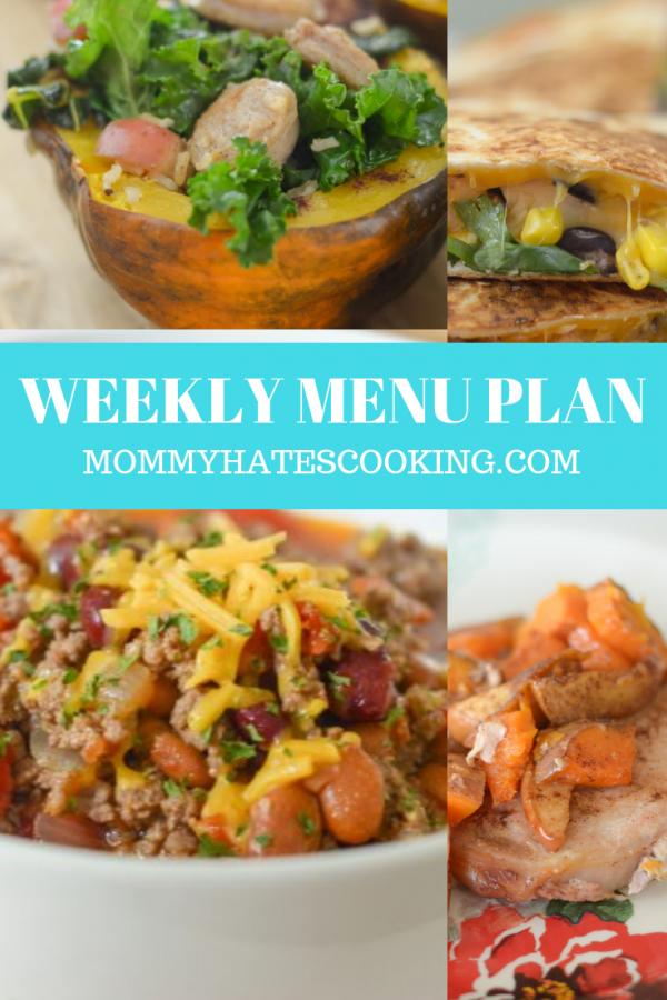 Weekly Menu Plan - Week of October 7th