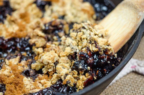 Black Currant Crisp Dessert