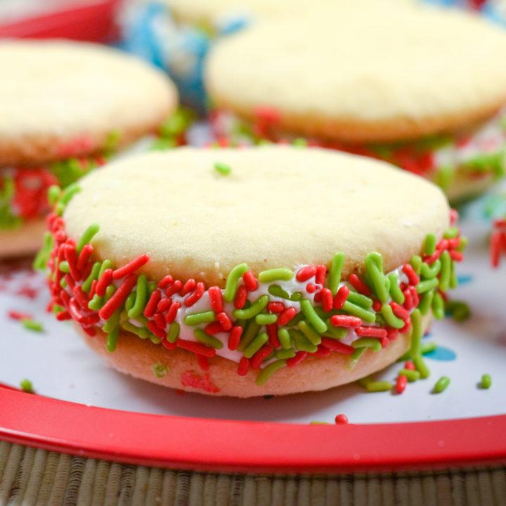 Holiday Sugar Cookie Whoopie Pies