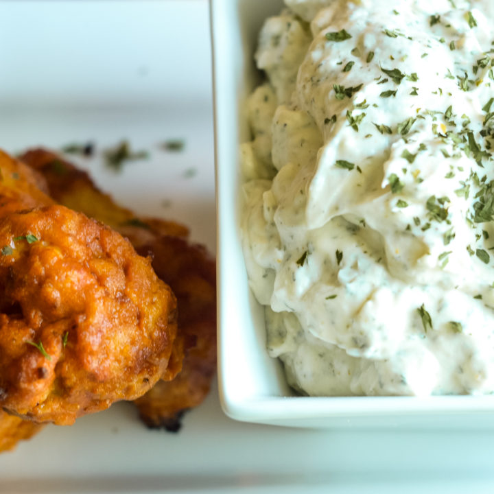 Creamy Dill Dip & Frank's Redhot Chicken Wings