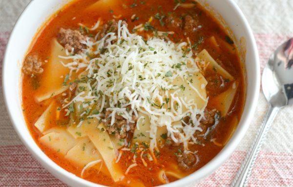 Gluten Free Instant Pot Lasagna Soup