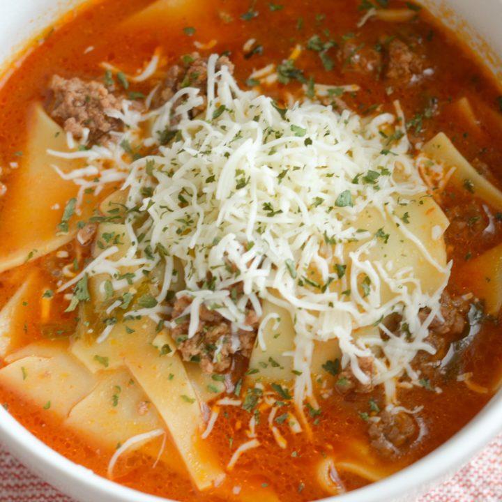 Ninja Foodi Lasagna Soup (Gluten-Free)