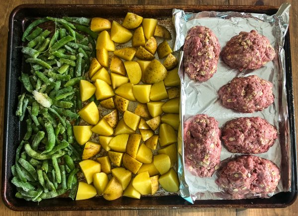 Sheet Pan Mini Meatloaf & Vegetables Recipe