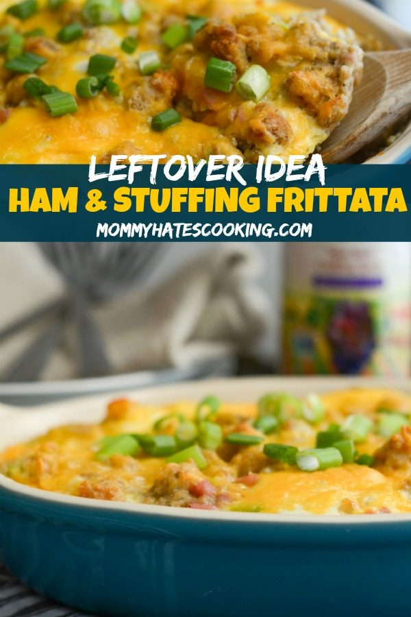 Leftover Ham & Stuffing Frittata
