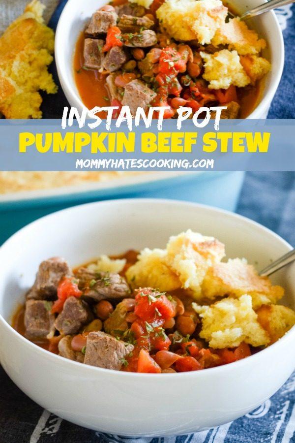 Instant Pot Pumpkin Stew #InstantPot #BeefStew