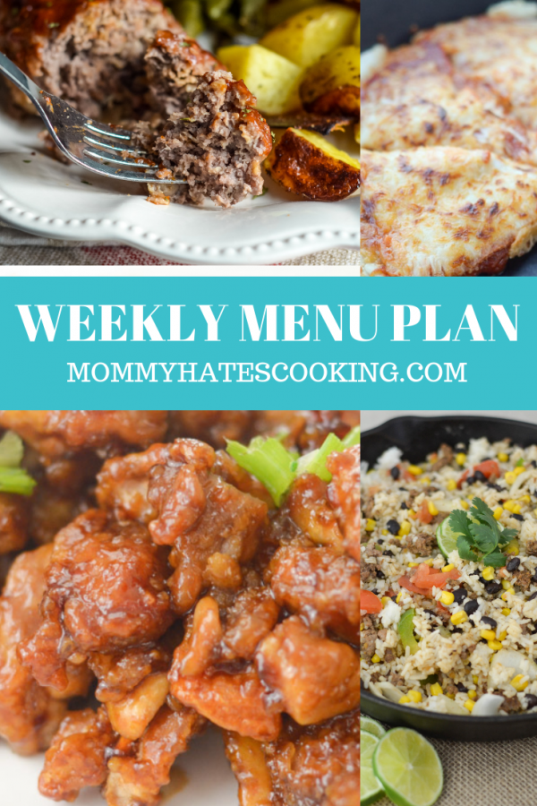 Weekly Menu Plan - Week of November 11th