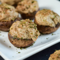 Balsamic Glazed Stuffed Mushrooms