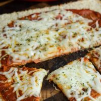Pepperoni Pizza with Cauliflower Pizza Crust