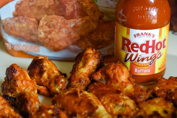 Spinach Dill Dip & Frank's Redhot Wings