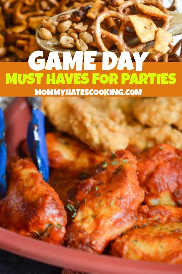 Game Day Must Haves for Parties