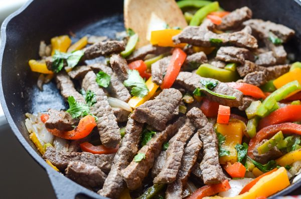 skillet steak fajitas