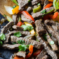 Gluten-Free Skillet Beef Fajitas