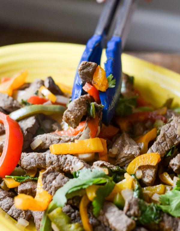 Skillet Beef Fajitas