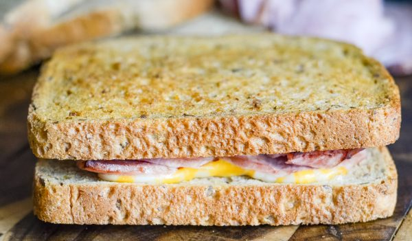 Air Fryer Ham and Cheese Sandwich