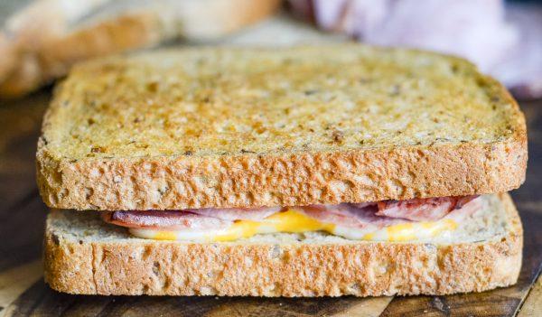Air Fryer Ham and Cheese Sandwich