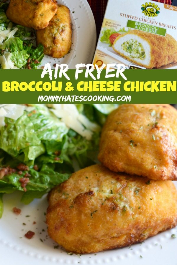 Air Fryer Broccoli & Cheese Stuffed Chicken Breast