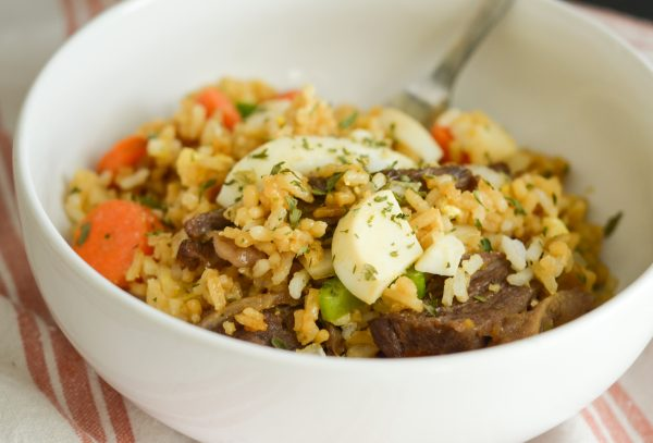 Air Fryer Beef Fried Rice
