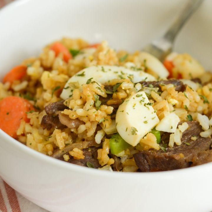 Air Fryer Beef Fried Rice
