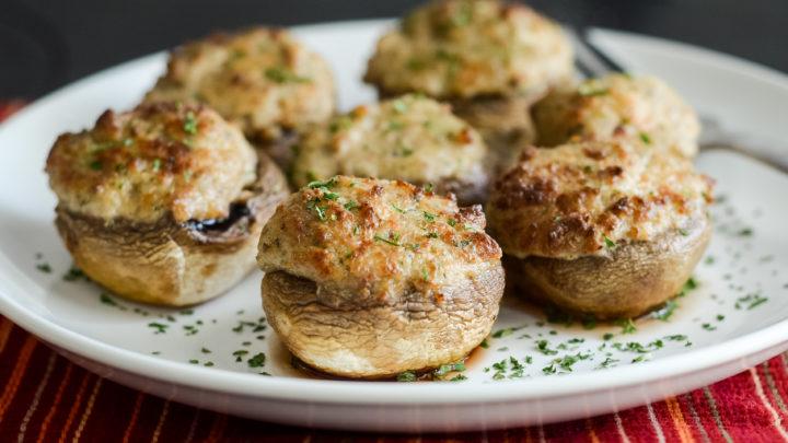 Ninja food portobello mushroom recipes Air Fryer Stuffed Mushrooms Mommy Hates Cooking