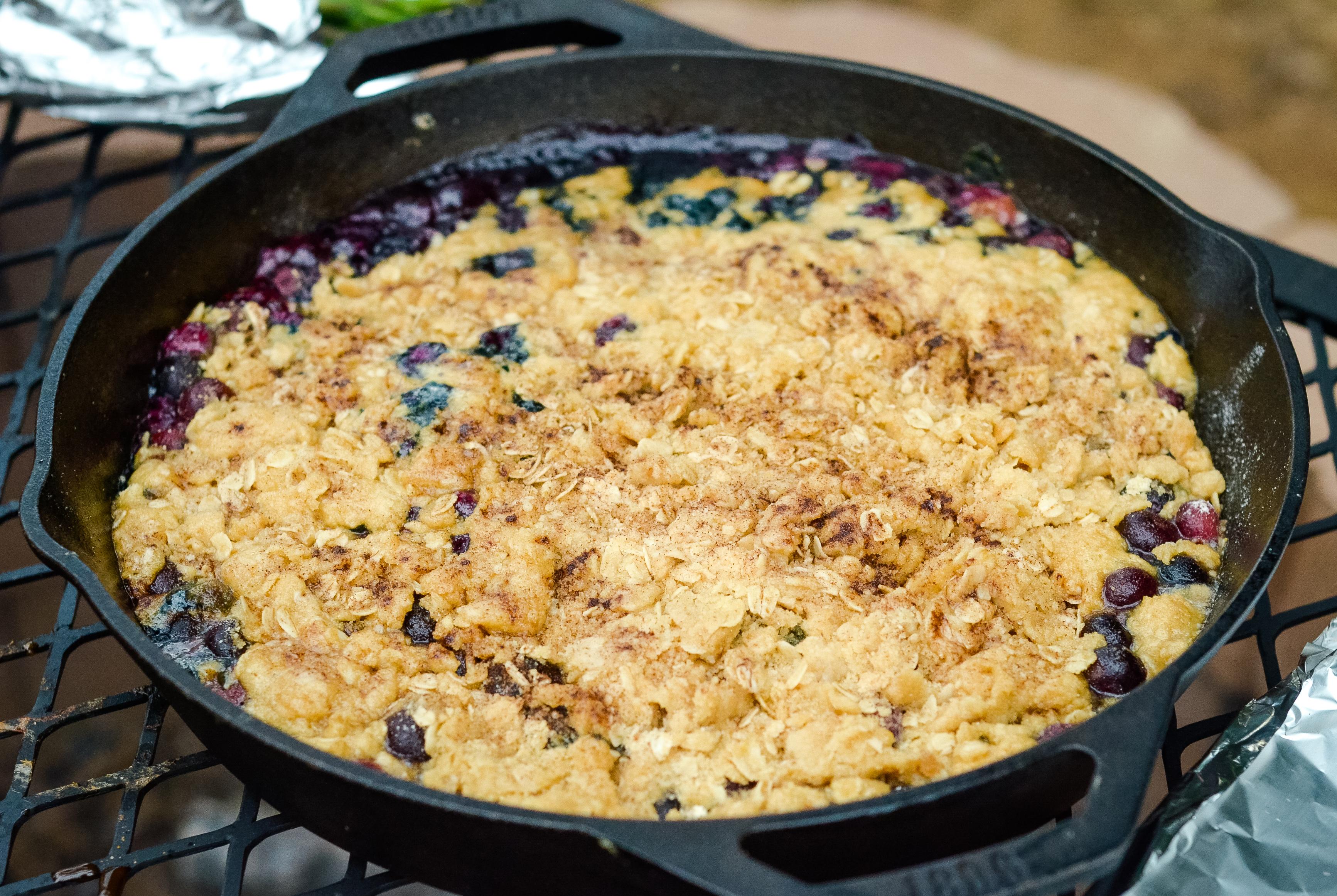 Campfire Blueberry Crisp