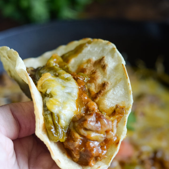 Hatch Chile Tacos with Roasted Hatch Chiles