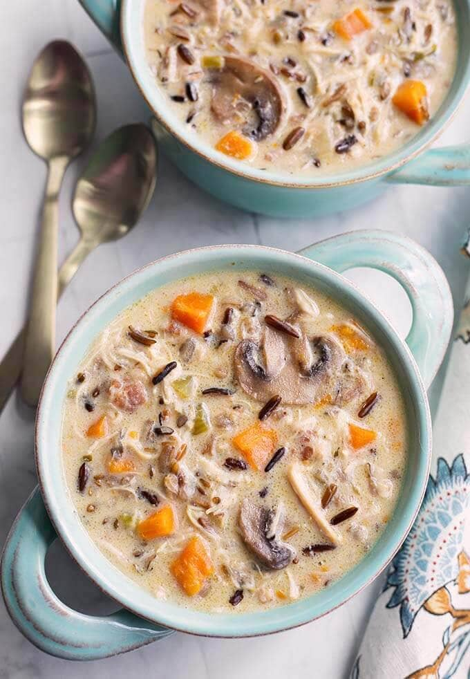 Pressure CookerWild Rice Soup with Chicken