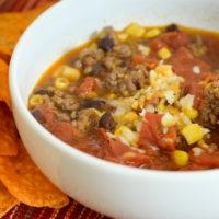 Ninja Foodi Beef Taco Soup with Hatch Chiles