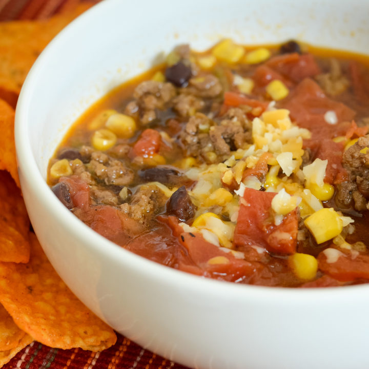 Ninja Foodi Beef Taco Soup with Hatch Chiles