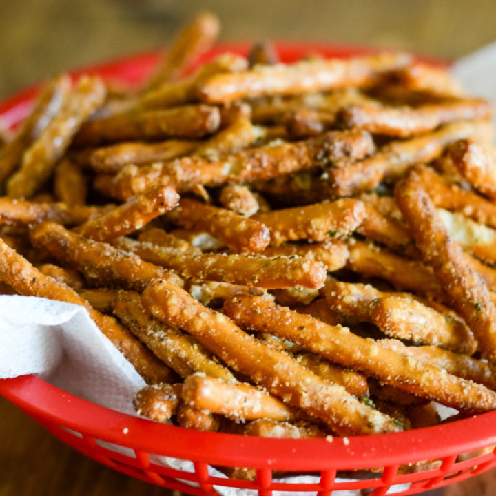 Air Fryer Seasoned Pretzels