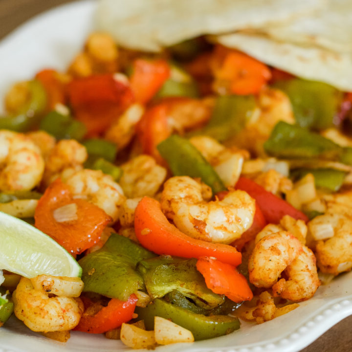 Air Fryer Shrimp Fajitas {Ninja Foodi}
