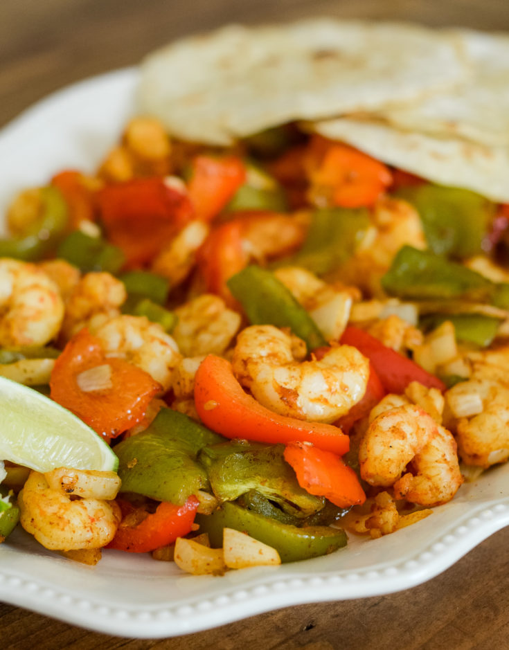 Air Fryer Shrimp Fajitas {Ninja Foodi}