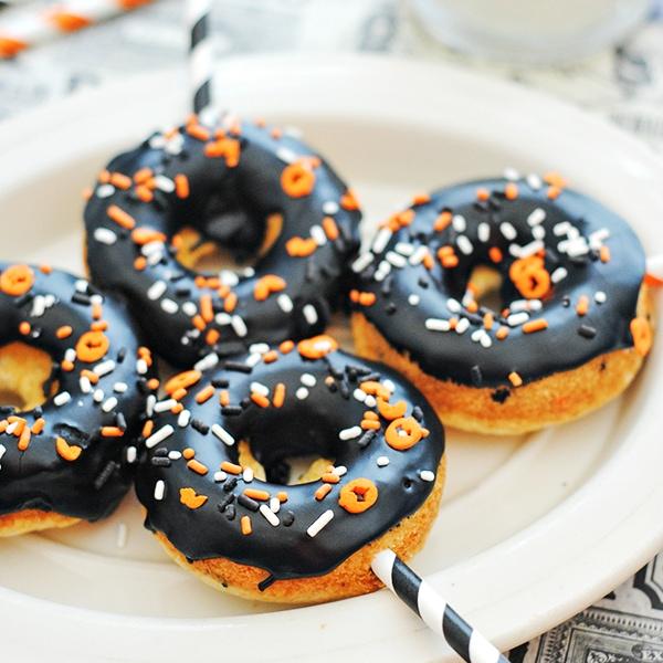 Easy Halloween Funfetti Cake Mix Donuts Recipe