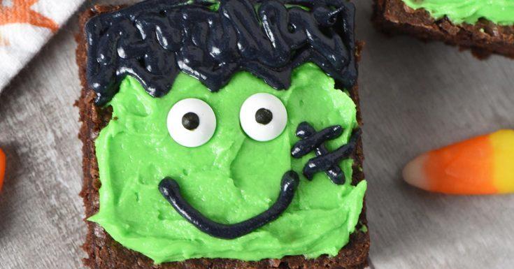 Frankenstein Halloween Brownies