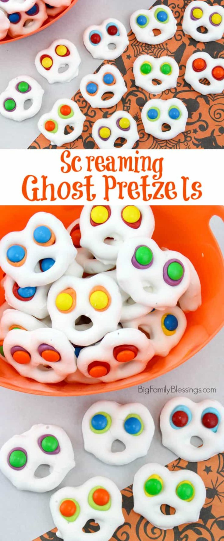 Fun and Easy Screaming Ghost Pretzels