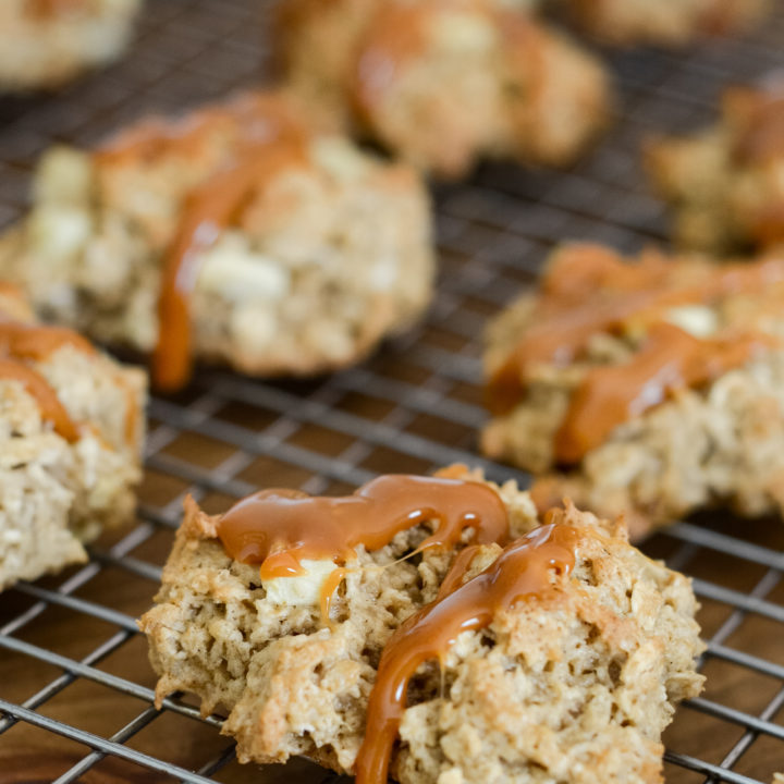 Caramel Apple Oatmeal Cookies (Gluten-Free)