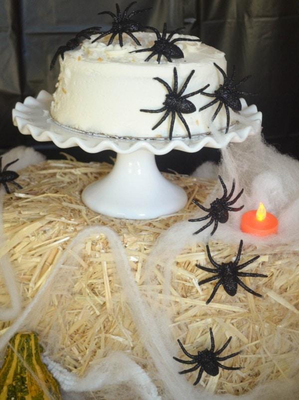 No-Bake Spider Cake