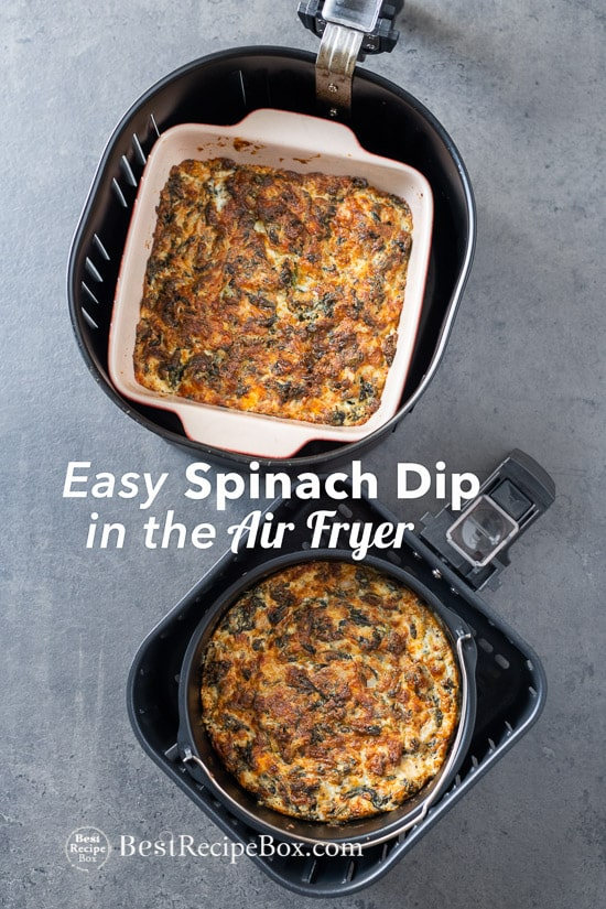 Air Fryer Spinach Dip Recipe