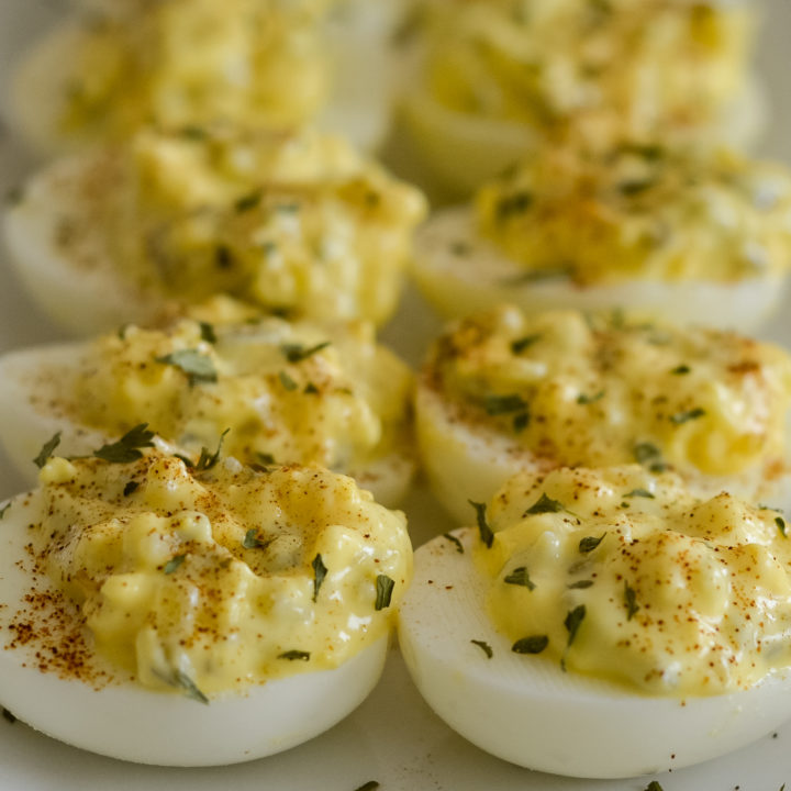 Deviled Eggs with Ninja Foodi Hard-Boiled Eggs