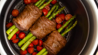 Ninja Foodi Steak Wrapped Asparagus