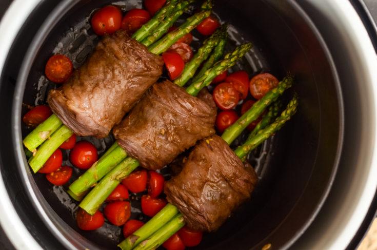 Ninja Foodi Steak Wrapped Asparagus (Air Fryer)
