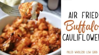 Air Fried Buffalo Cauliflower