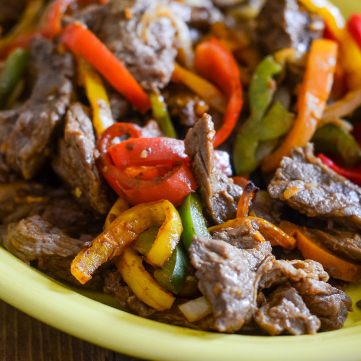 Air Fryer Beef Fajitas (Ninja Foodi Recipe)