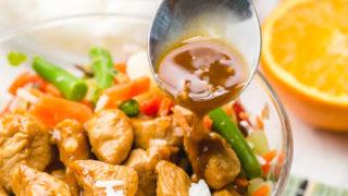 Freezer Teriyaki Chicken Rice Bowl
