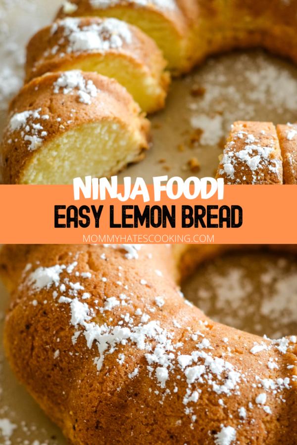 Ninja Foodi Lemon Bread (Gluten-Free)